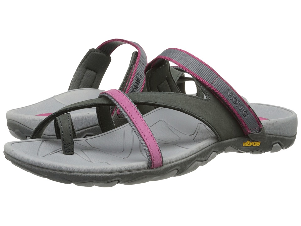 VIONIC - Mojave Vionic Sport Recovery Toepost Sandal (Charcoal/Berry) Women's Shoes