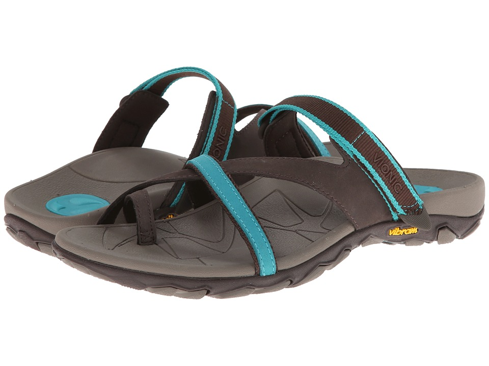 VIONIC - Mojave Vionic Sport Recovery Toepost Sandal (Chocolate/Teal) Women's Shoes