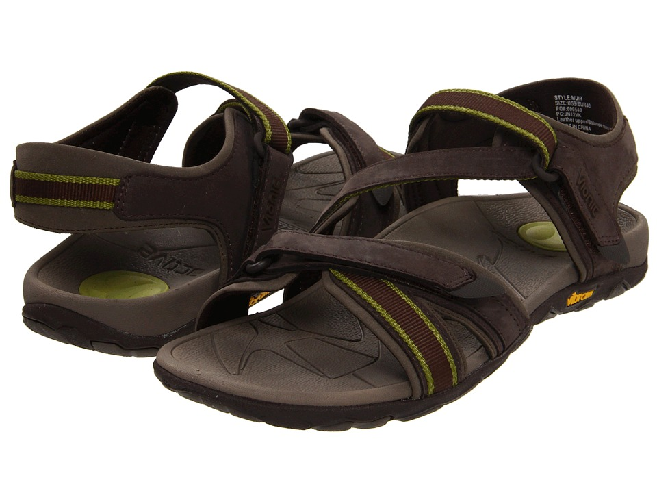 VIONIC - Muir Vionic Sport Recovery Adjustable Sandal (Chocolate/Green) Women's Sandals