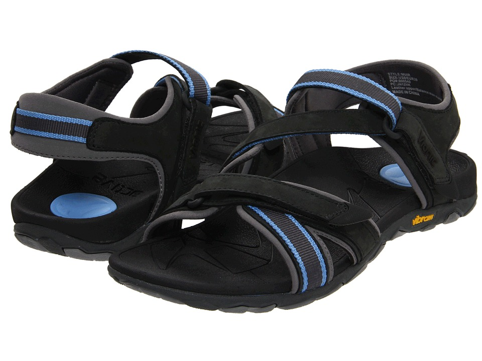 VIONIC - Muir Vionic Sport Recovery Adjustable Sandal (Dark Charcoal/Blue) Women's Sandals