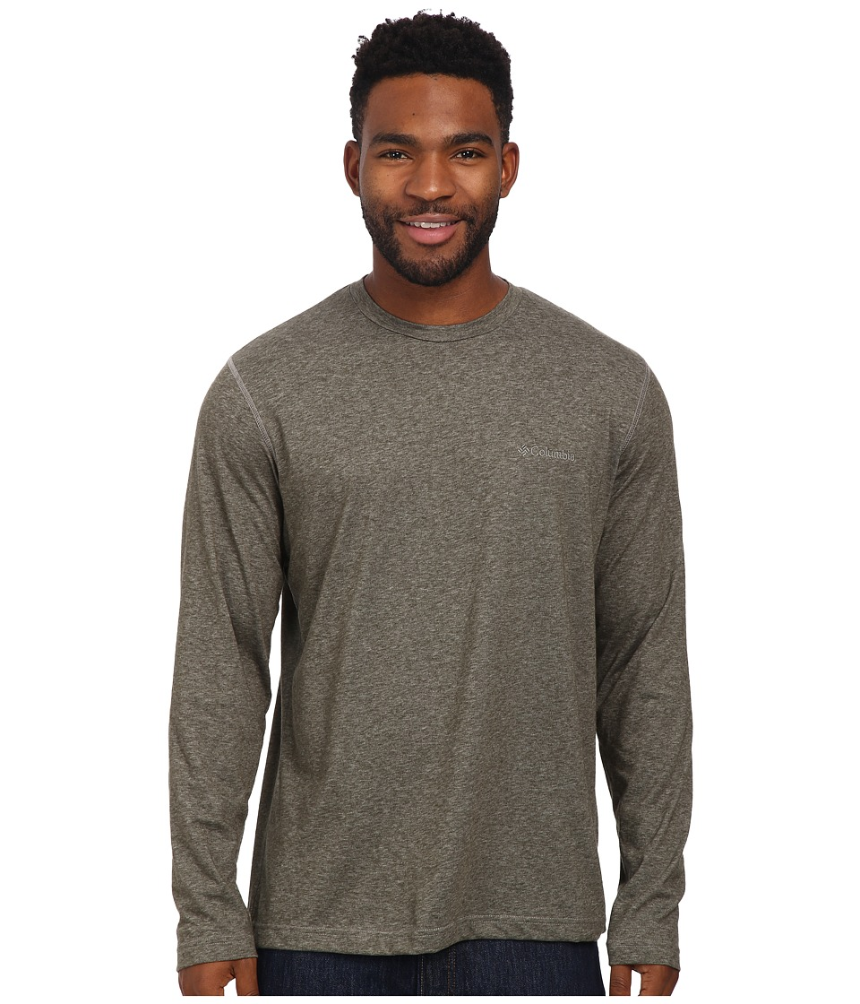 Columbia - Thistletown Parktm Long Sleeve Shirt (Surplus Green Heather) Men's Long Sleeve Pullover