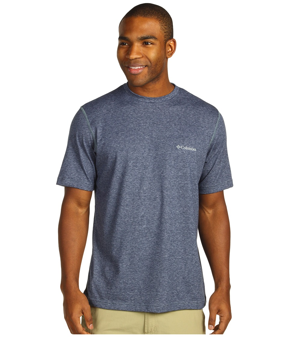 Columbia - Thistletown Park Crew (Nocturnal Heather) Men's Short Sleeve Pullover