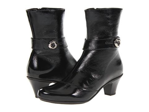La Canadienne - Rimes (Black Crinkle) Women's Dress Boots