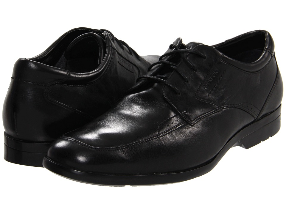 Rockport - Business Lite Moc Toe (Black) Men's Lace up casual Shoes