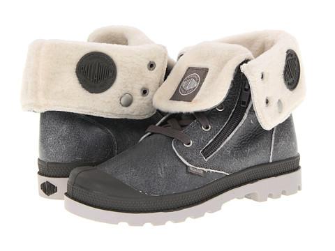 Palladium Kids - Baggy Leather S (Little Kid) (Grey Pilot) Boys Shoes
