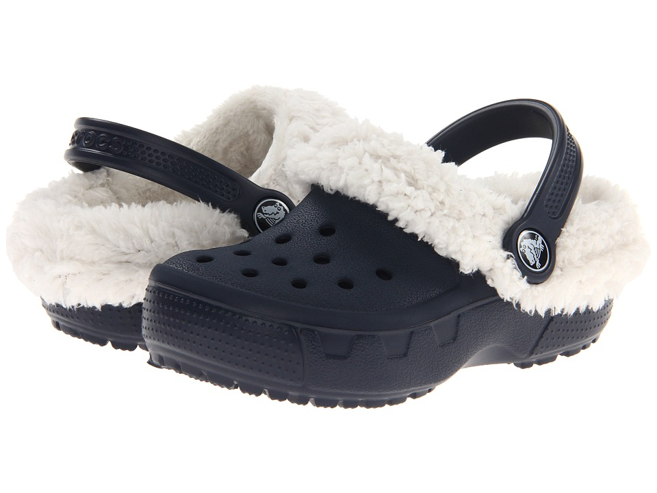 Crocs Kids - Mammoth EVO Clog (Toddler/Little Kid) (Navy/Oatmeal) Kids Shoes