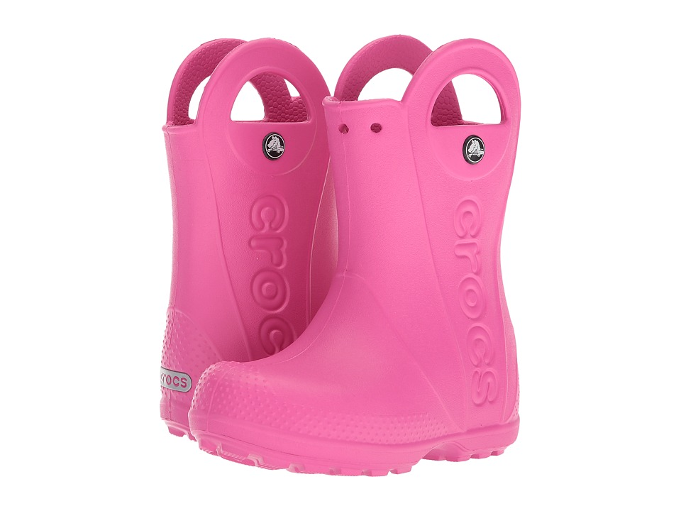 Crocs Kids - Handle It Rain Boot (Toddler/Little Kid) (Fuchsia) Girls Shoes