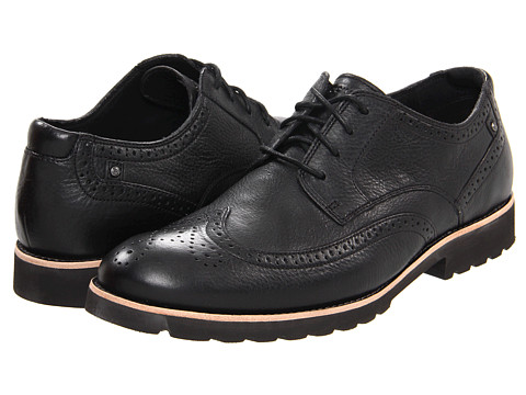 Rockport - Ledge Hill Wingtip (Black) Men's Lace Up Wing Tip Shoes