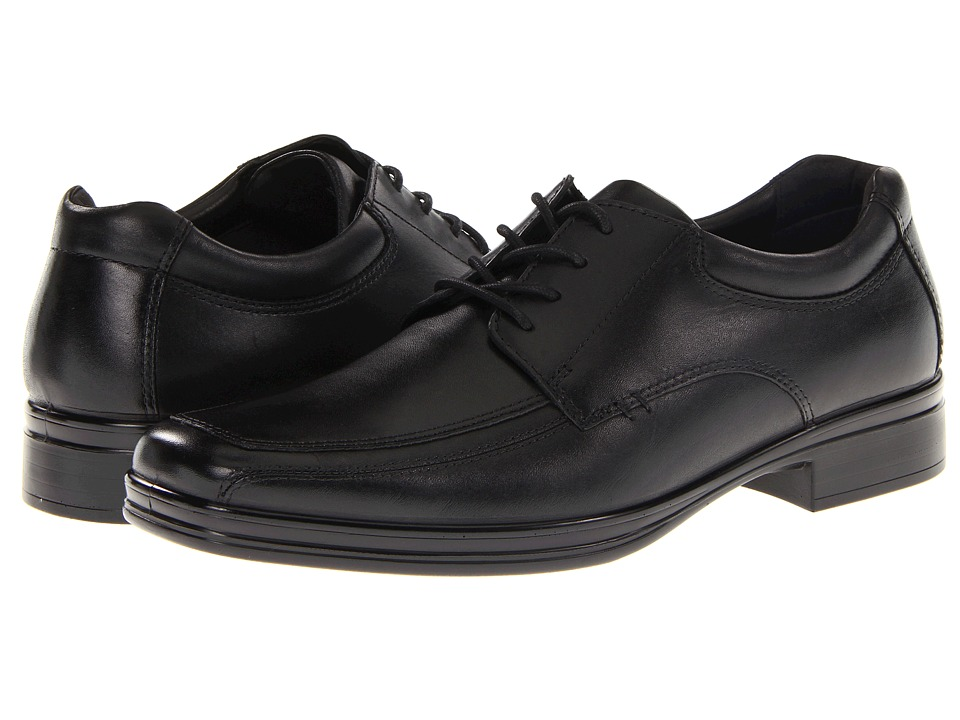 Hush Puppies - Quatro Oxford BK (Black Leather) Men's Lace up casual Shoes