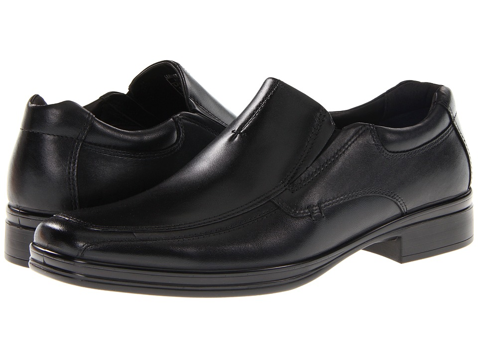 Hush Puppies - Quatro Slip On BK (Black Leather) Men's Slip-on Dress Shoes