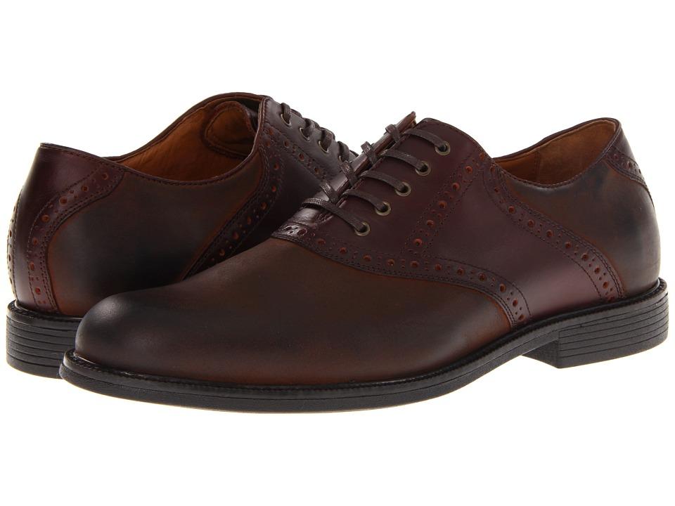 Johnston & Murphy - XC4 Waterproof Cardell Saddle (Dark Brown Nubuck) Men's Plain Toe Shoes