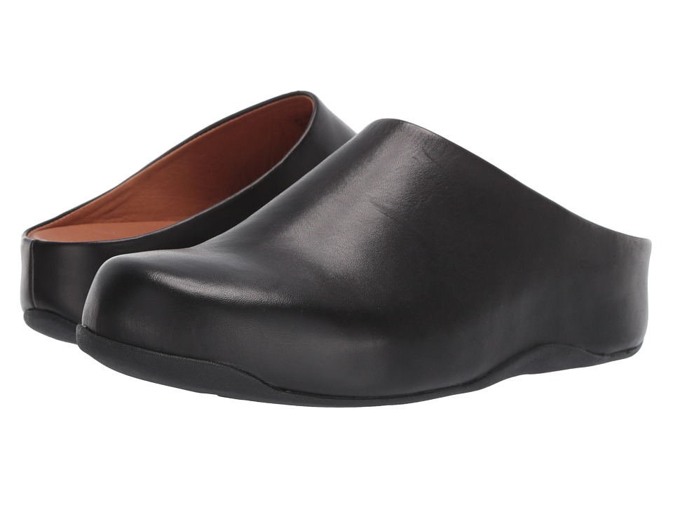 FitFlop - Shuv Leather (Black) Women's Clog Shoes