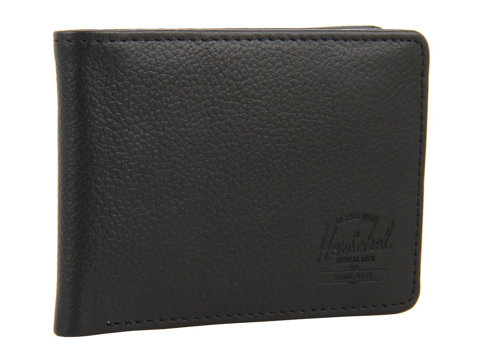 Herschel Supply Co. - Hank Leather (Black Pebble Leather) Wallet Handbags