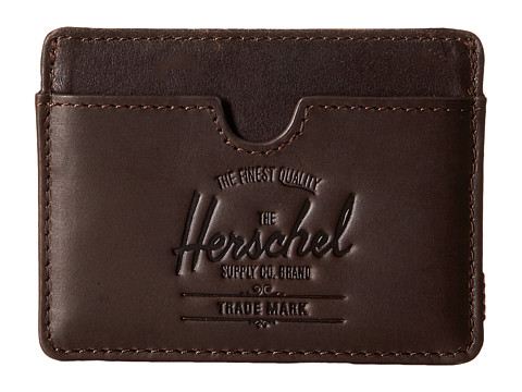 Herschel Supply Co. - Charlie Leather (Brown Nubuck) Wallet Handbags