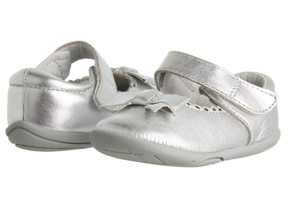 pediped - Betty Grip 'n' Go (Toddler) (Silver) Girls Shoes