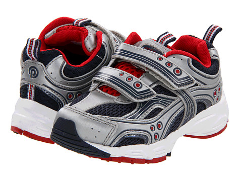 pediped - Mercury Flex (Toddler/Little Kid) (Navy/Red/Silver) Boys Shoes