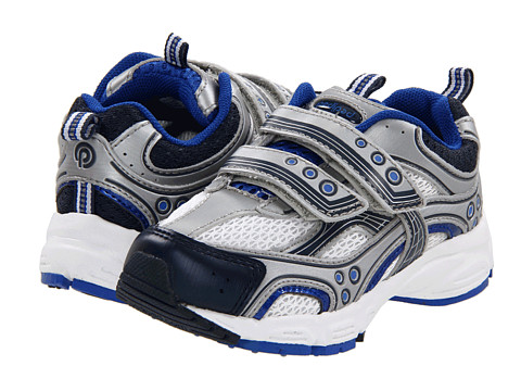 pediped - Mercury Flex (Toddler/Little Kid) (Silver/Blue) Boys Shoes