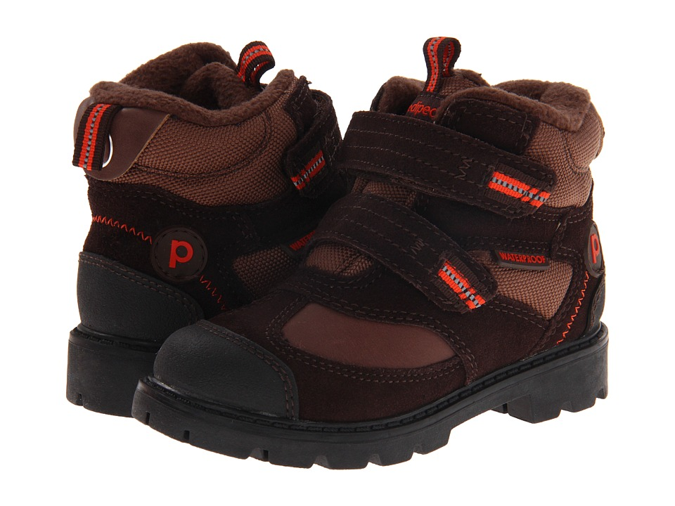 pediped - Spencer Flex (Toddler/Little Kid) (Brown) Boys Shoes