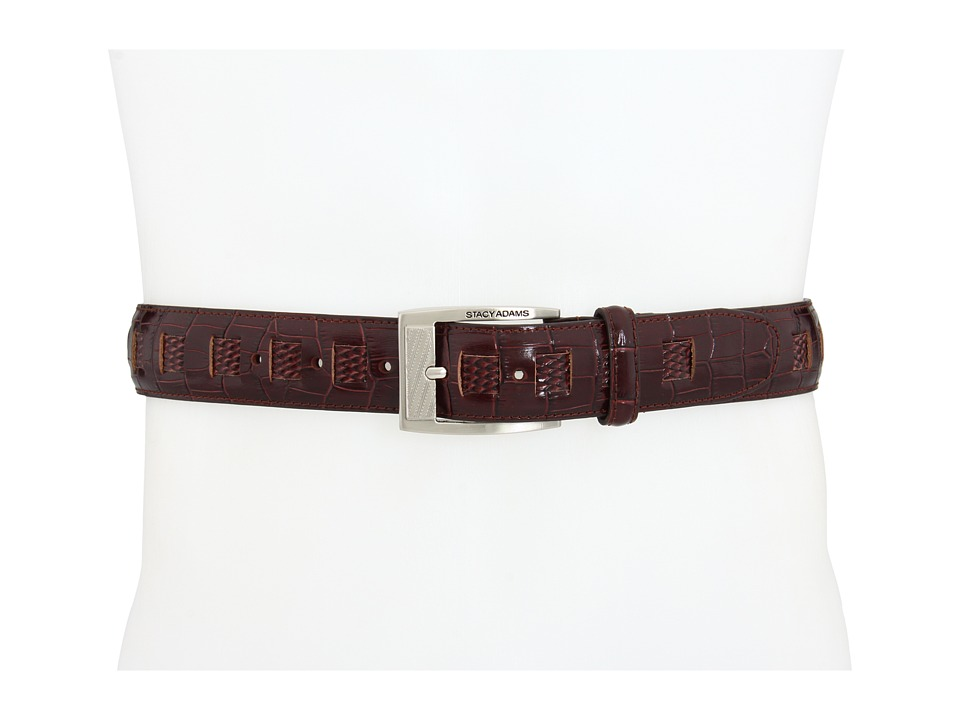 Stacy Adams - 164 (Burgundy) Men's Belts