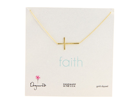 Dogeared - Faith Large Sideways Cross 18 (Gold) Necklace
