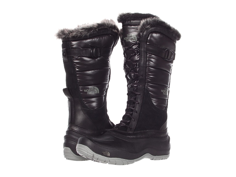 The North Face - Shellista Lace (Shiny TNF Black/TNF Black) Women's Cold Weather Boots