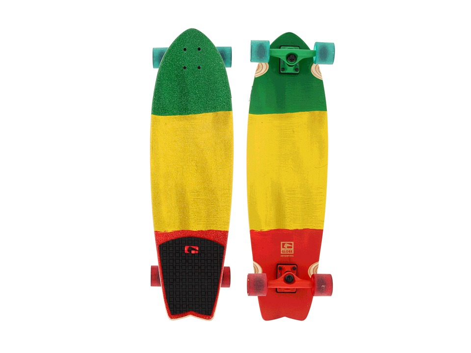 Globe - Chromantic Cruiser (Rasta Flag) Skateboards Sports Equipment