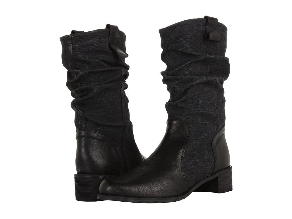 Stuart Weitzman - Yuma (Black Vecchio Nappa) Women's Pull-on Boots