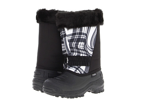 Tundra Boots Kids - Glacier (Little Kid/Big Kid) (Black/White/Wave) Girls Shoes