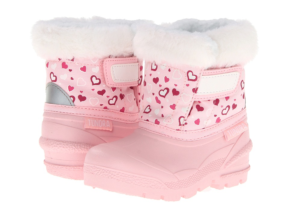 Tundra Boots Kids - Smile (Toddler) (Pink/Hearts) Girls Shoes