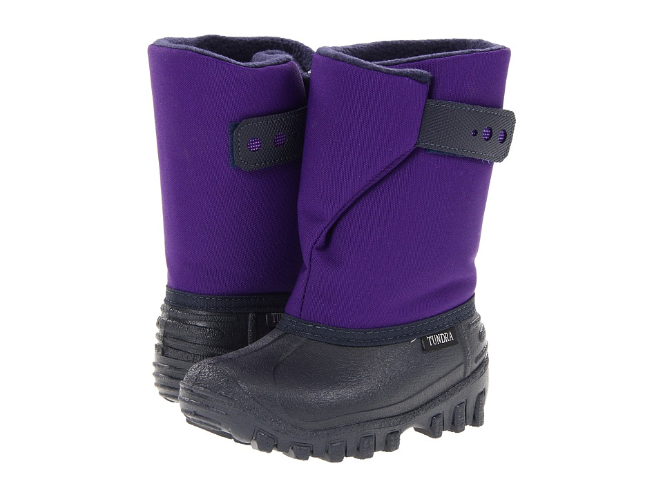 Tundra Boots Kids Teddy (Toddler/Little Kid) (Navy/Purple) Girls Shoes