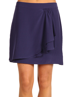 SALE! $69.99 - Save $68 on BCBGMAXAZRIA Silk Ruffle Flounce Draped Skirt (South Pacific) Apparel - 49.28% OFF $138.00