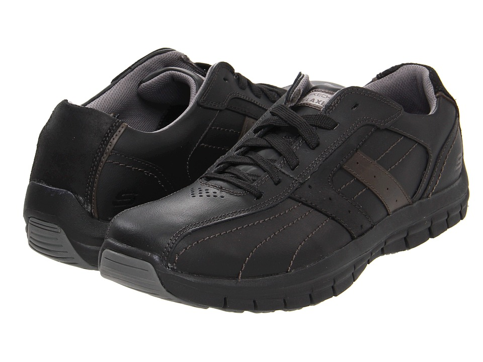 SKECHERS - Masen - Kruger (Black) Men's Lace up casual Shoes