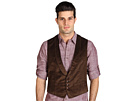 John Varvatos   Shawl Collar Vest (Dark Brown)   Apparel