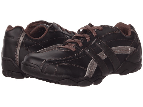 SKECHERS - Diameter (Black) Men's Lace up casual Shoes