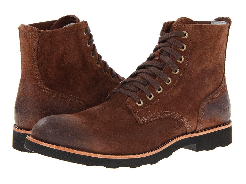 SeaVees - 05/63 Boondocker Boot (Dark Earth Roughout Leather) Men's Lace-up Boots