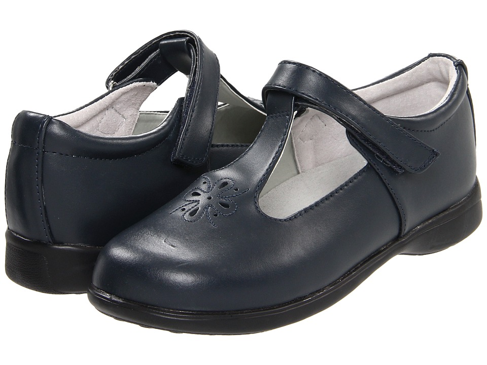 Jumping Jacks Kids - Terrific (Toddler/Little Kid/Big Kid) (Navy Leather) Girl's Shoes
