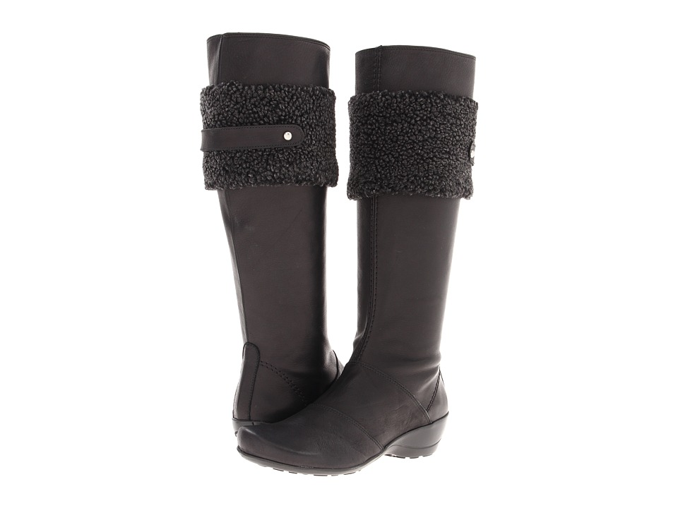 Antia - Evelyn (Black Montana Leather with Wool) Women's Zip Boots