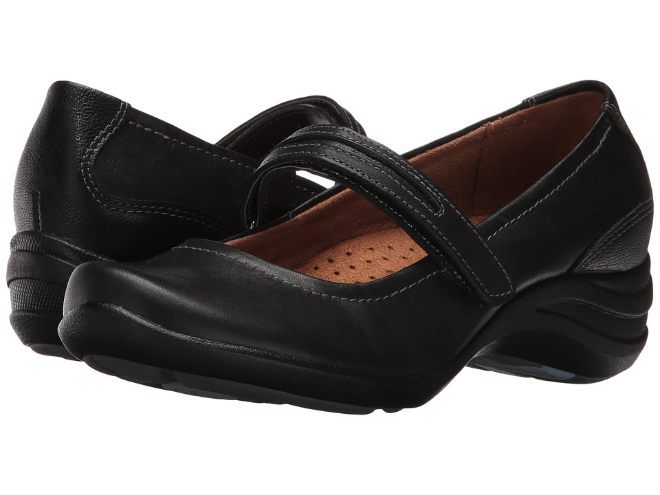 Hush Puppies - Epic Mary Jane (Black Leather) Women's Maryjane Shoes