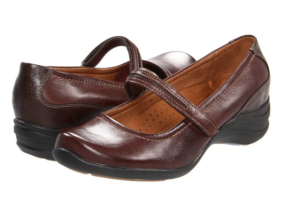 Hush Puppies - Epic Mary Jane (Dark Brown Leather) Women's Maryjane Shoes