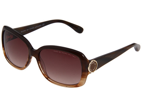 Marc by Marc Jacobs - MMJ 302/S (Straited Brown/Brown Gradient) Fashion Sunglasses