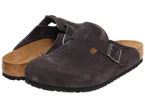 Birkenstock - Boston Soft Footbed (Unisex) (Velvet Grey Suede) Clog Shoes