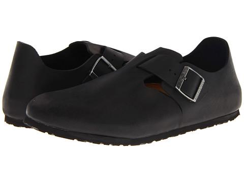 Birkenstock - London (Black Oiled Leather) Slip on Shoes