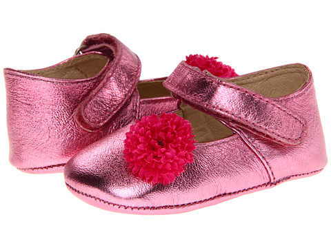Pazitos - Flower MJ (Infant) (Fuchsia Metallic) Girls Shoes