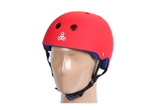 Triple Eight - Brainsaver Multi-Impact Helmet w/ Sweatsaver Liner (United Red Rubber) Skateboard Helmet