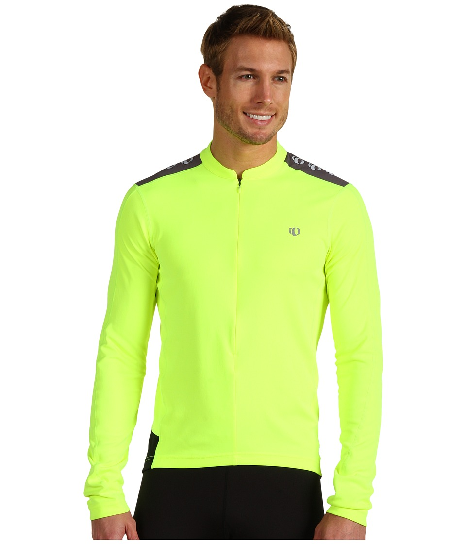 Pearl Izumi - Quest L/S Jersey (Screaming Yellow) Men's Long Sleeve Pullover