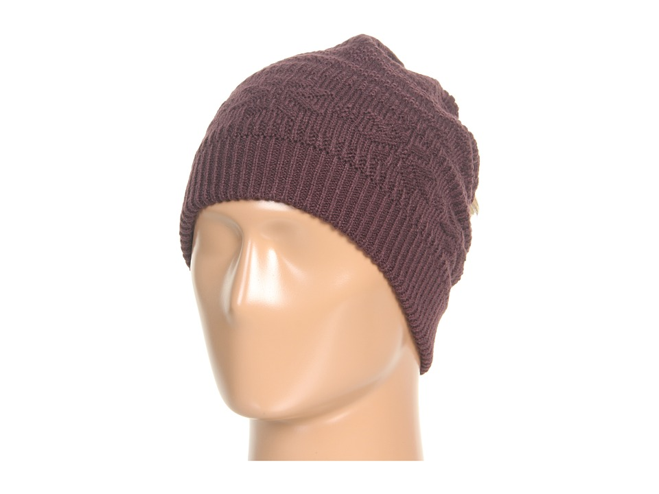 MUK LUKS - Eggplant Beanie (Eggplant) Cold Weather Hats