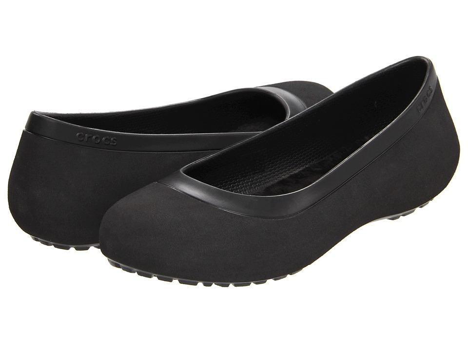 Crocs - Mammoth Flat (Black/Black) Women's Flat Shoes