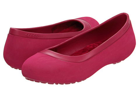 a381d2ebe ... UPC 883503899407 product image for Crocs Mammoth Flat  (Pomegranate Pomegranate) Women s Flat Shoes ...