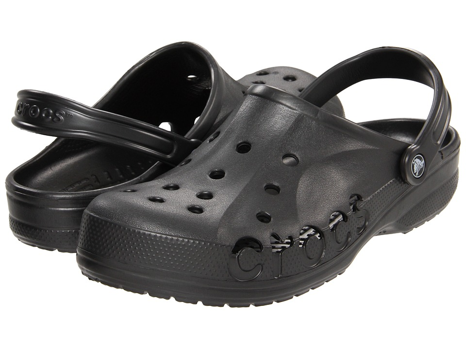 Crocs - Baya (Unisex) (Graphite) Slip on Shoes