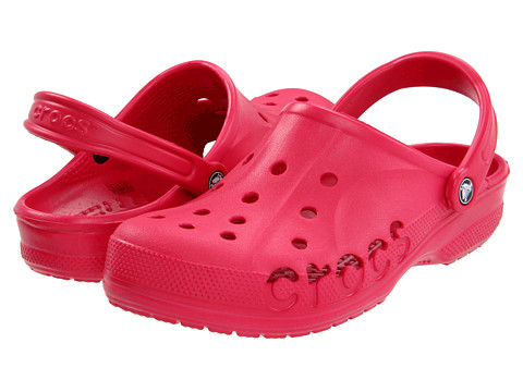 Crocs - Baya (Unisex) (Raspberry) Slip on Shoes